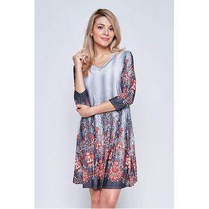 Boho Print Side Pocket Tunic Dress